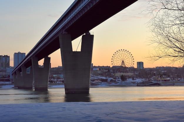 Most metra w nowosybirsku rano
