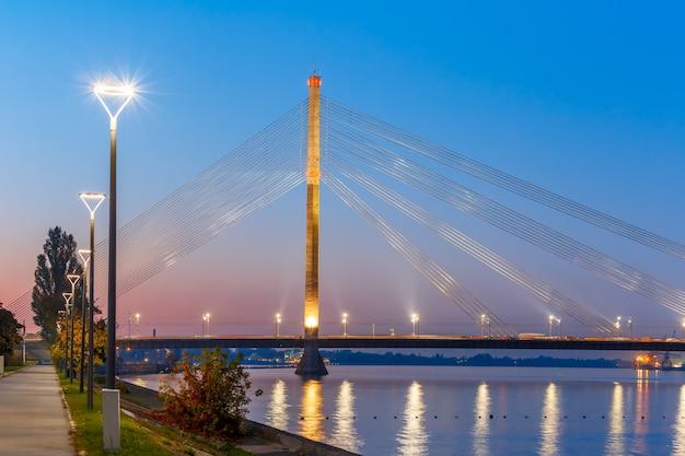 Most wantowy i dźwina, ryga, łotwa