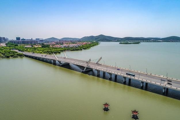 Most z miastem