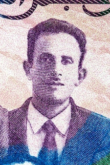 Mostefa ben boulad portret z algierskich pieniędzy