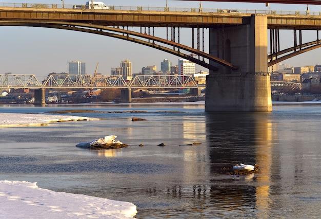 Mosty nad ob w nowosybirsku