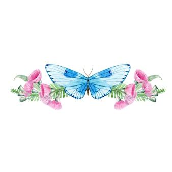 Motyl w kwiatach eukaliptusa