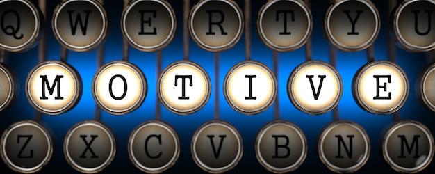 Motyw na klawiszach starej maszyny do pisania na niebiesko.