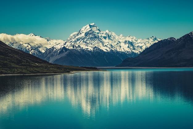Mount Cook W Nowej Zelandii Premium Zdjęcia