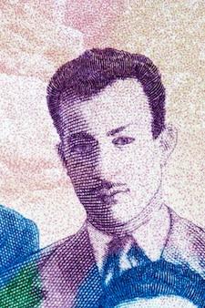 Mourad didouche portret z algierskich pieniędzy