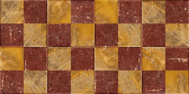Mozaika kwadratów z naturalnego granitu i marmuru. kamienna tekstura do projektowania.