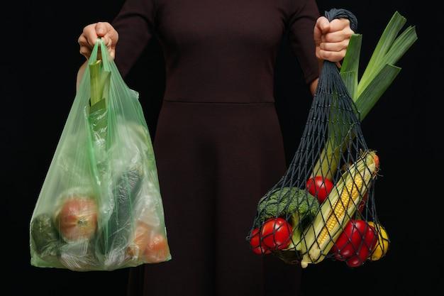 Możliwość wyboru toreb plastikowych lub toreb wielokrotnego użytku