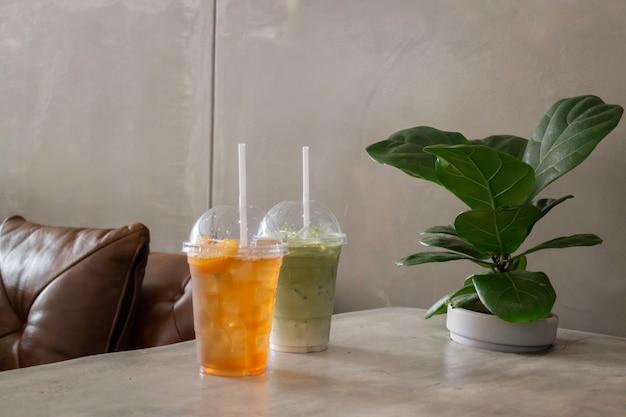 Mrożona szklanka napojów herbacianych