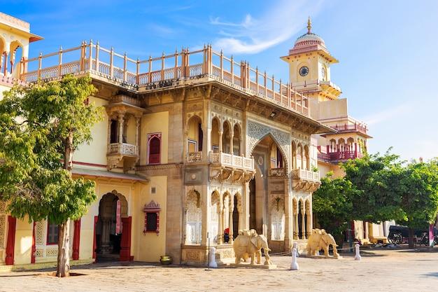 Mubarak mahal city palace w jaipur, rajasthan, indie.