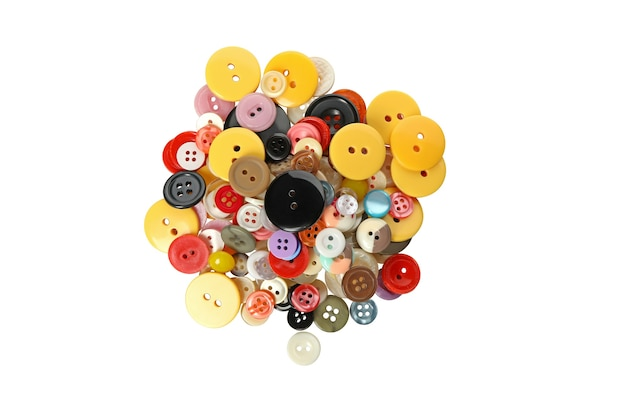 Multi kolorowe przyciski izolowane