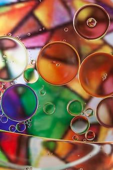 Multicolor abstrakcyjne tło z bąbelkami.