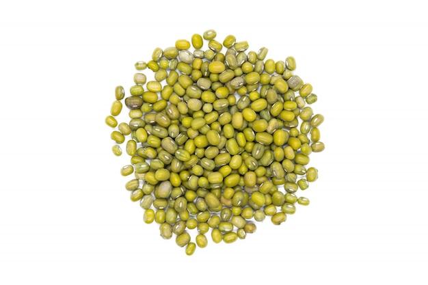 Mung fasoli wiązka, odizolowywająca, zakończenie up. maash, moong lub zielony gram fasoli.