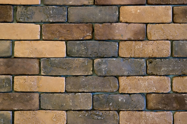 Mur ceglany gradacji kolorów na tle
