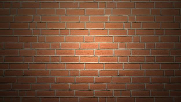 Mur ceglany tło z oświetleniem