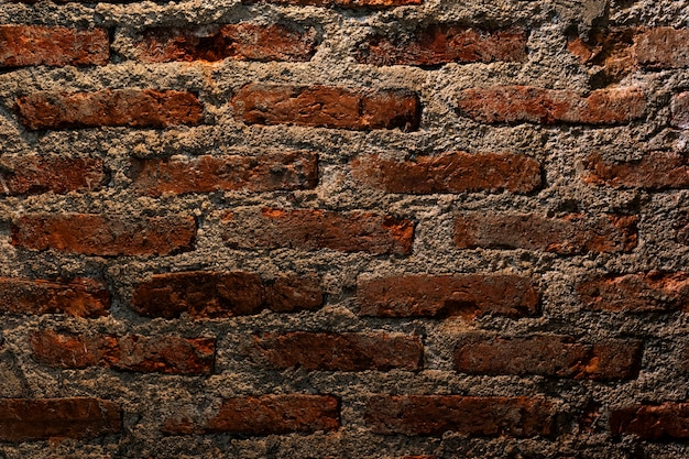 Mur z cegły grunge teksturowane tło