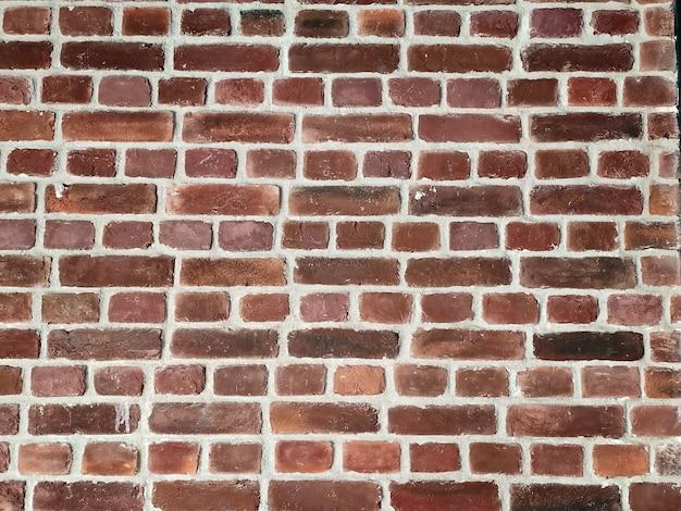 Mur z cegły z czerwonej cegły, czerwone tło z cegły.