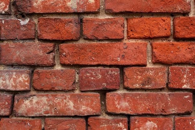 Mur z cegły z czerwonej cegły, tło z czerwonej cegły.