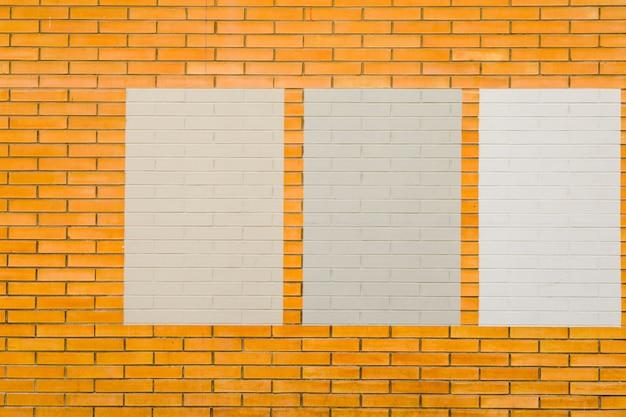 Mur z cegły z ramkami
