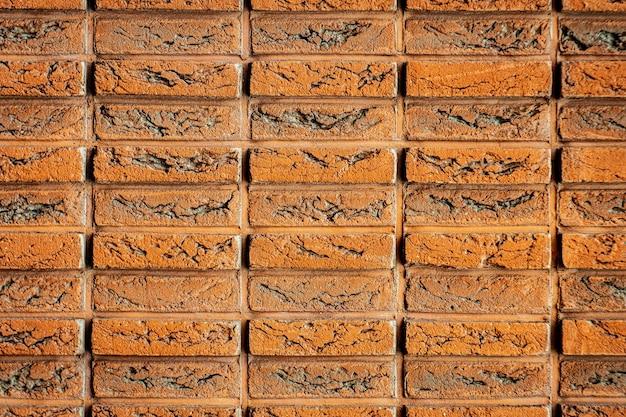 Mur z cegły z wzorem pomarańczowy ceglany mur stary ceglany mur ceglany mur w tle