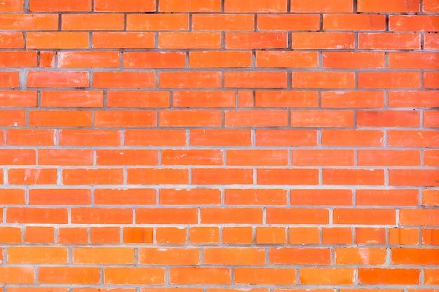 Mur z czerwonej cegły, schludny mur, tekstura