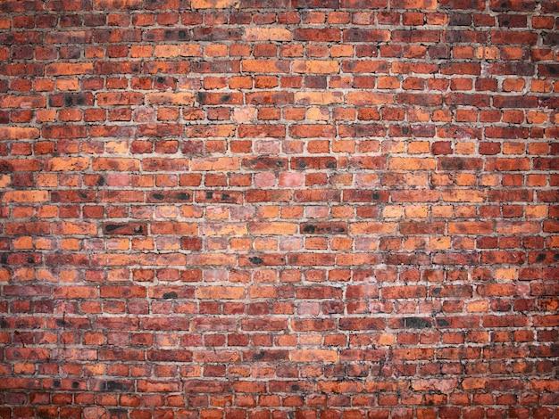 Mur z czerwonej cegły w stylu vintage, mur z cegły