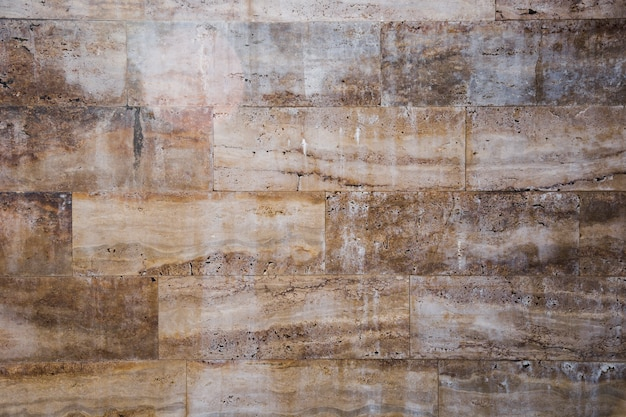 Mury miejskie z efektem marmuru