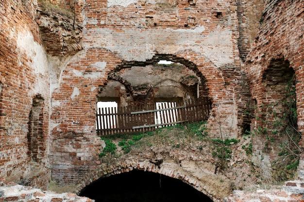 Mury różana zrujnowany pałac sapiehów w zachodniej białorusi