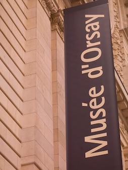 Musee d'orsay podpisuje w paryż francja