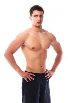 Muskularny facet pozowanie
