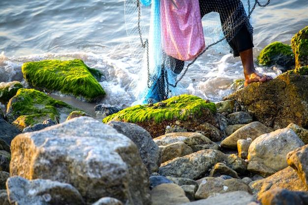 Muszle morskie zostały zrzucone przez rybaków, którzy łowią ryby