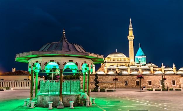 Muzeum mevlana, mauzoleum rumiego w konyi, turcja