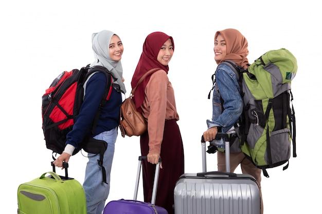 Muzułmanka eid mubarak podróży koncepcja