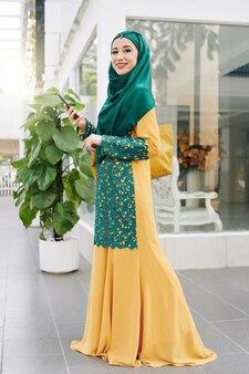 Muzułmanka w tradycyjnym stroju