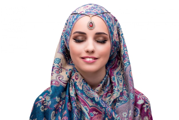 Muzułmańska kobieta w mody pojęciu odizolowywającym