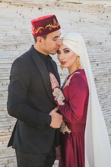 Muzułmańska para na spacerze