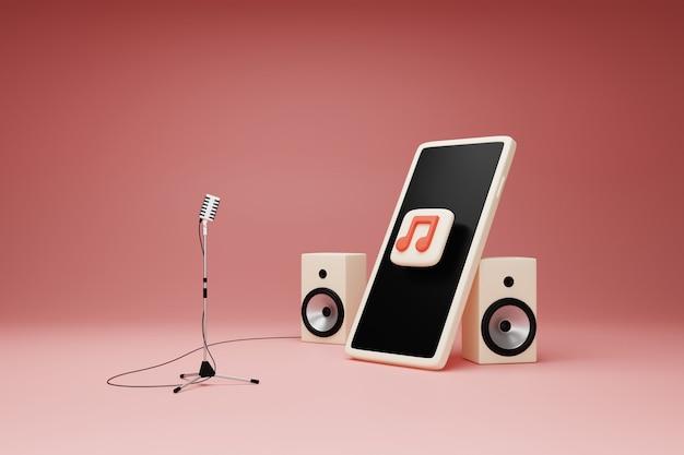 Muzyka aplikacji na koncepcji smartfona.