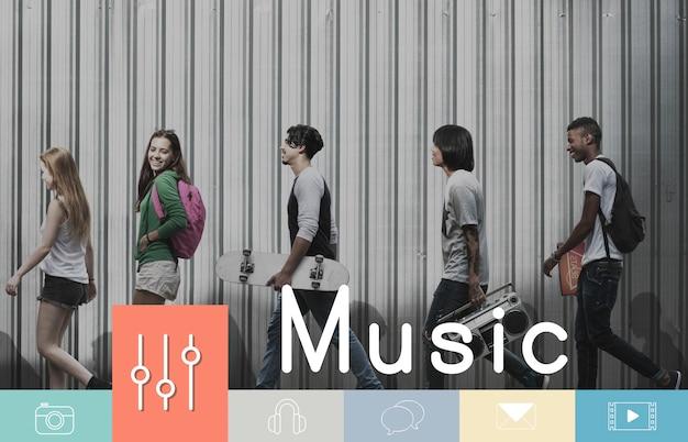 Muzyka cyfrowe media rozrywka multimedia