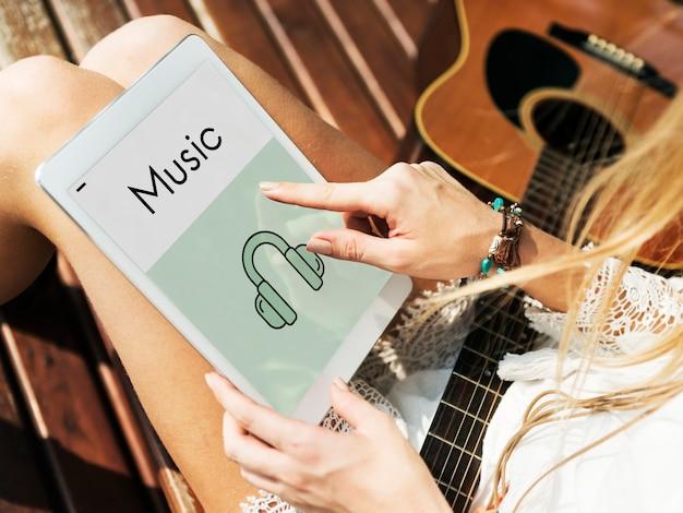 Muzyka na tablecie