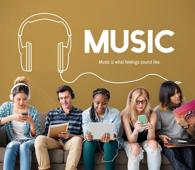 Muzyka styl życia rozrywka rozrywka koncepcja
