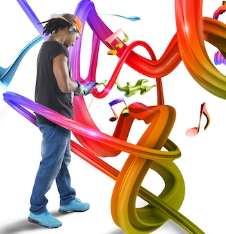 Muzyka w kolorowych falach