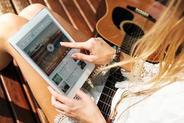 Muzyki gitarowej piosenki styl życia muzyki piosenki pojęcie