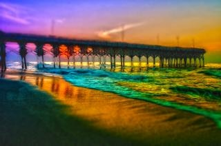 Myrtle beach molo sunrise