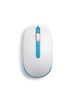 Mysz komputerowa na białym tle