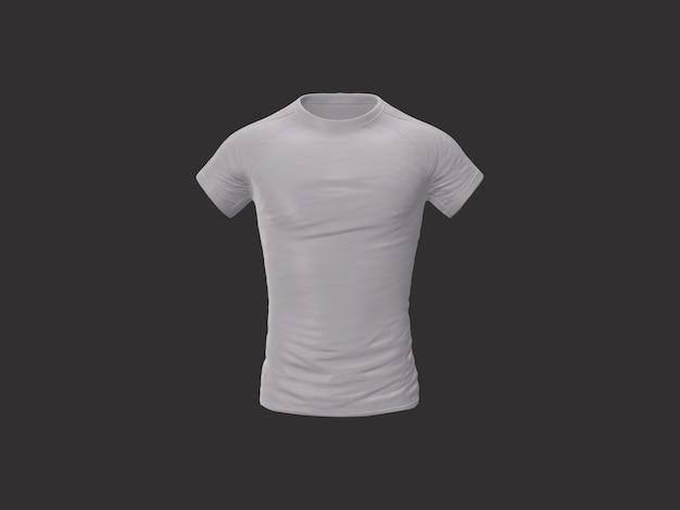 Na białym tle biała koszulka do makiety
