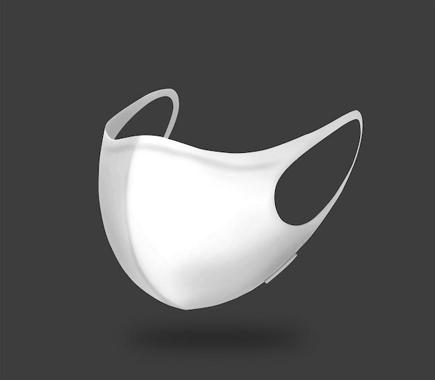 Na białym tle maska czarno-biała
