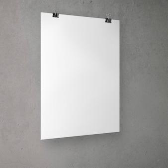 Na białym tle nad głową plakatu z klipami