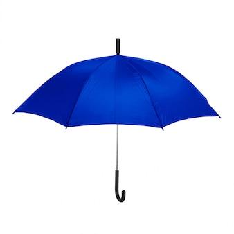 Na białym tle niebieski parasol