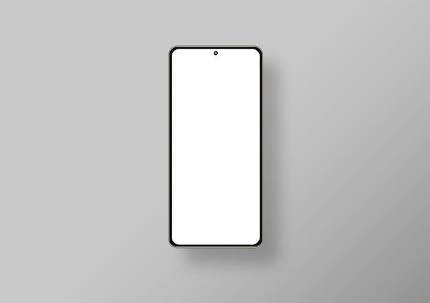 Na białym tle telefon w szarym tle