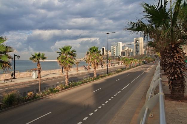 Nabrzeże w bejrucie, liban