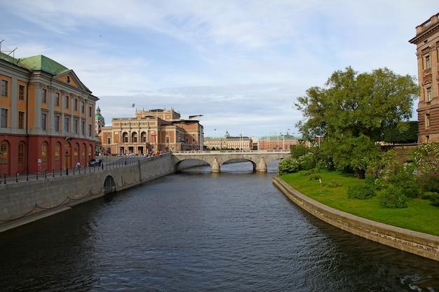 Nabrzeże w sztokholmie w szwecji